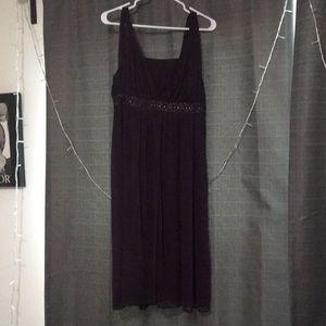 Short purple prom dress empire waist